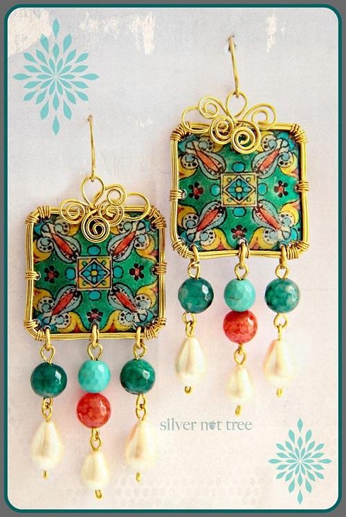 silver nut tree earrings 3