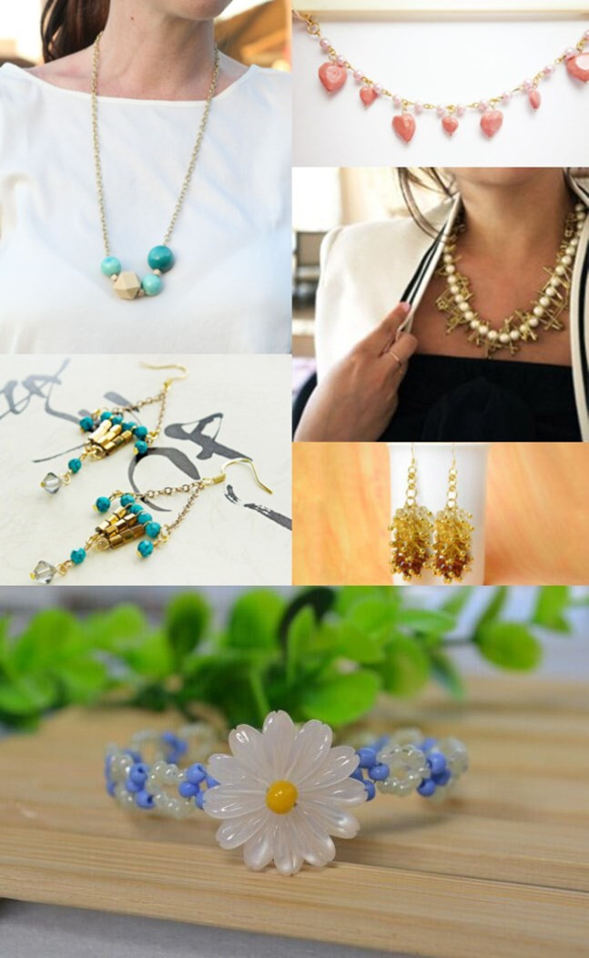 Roundup 6 Jewelry Tutorials on Mother's Day