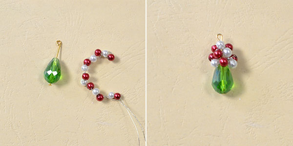 Christmas Earring Ideas - How to DIY a Pair of Red and Green Drop Earrings 2600300